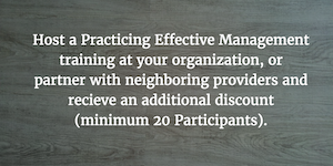 Practicing effective management training