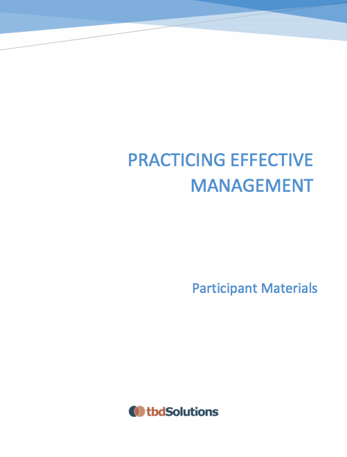 Practicing Effective Management